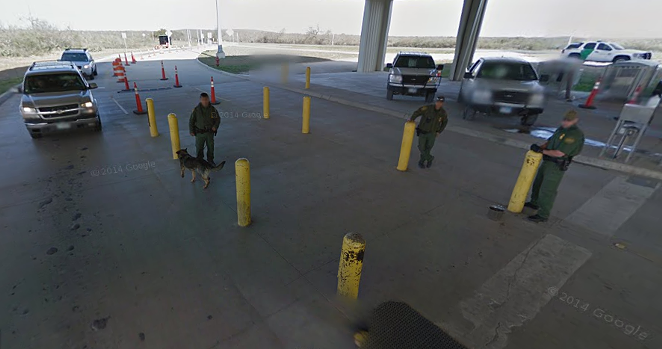 The Sierra Blanca Border Patrol checkpoint - GOOGLE MAPS
