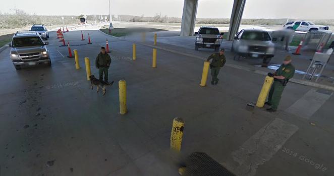 The Sierra Blanca Border Patrol checkpoint - GOOGLE MAPS