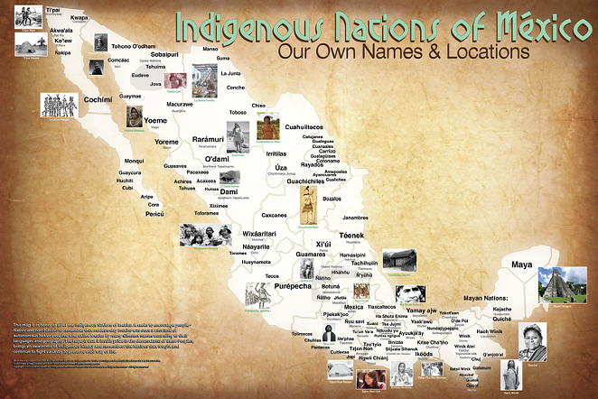 A map of Canada and the continental U.S. showing the pre-contact locations and names of Native American tribes. (CLICK TO ENLARGE) - AARON CARAPELLA