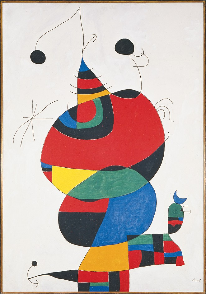 Joan Miró, Woman, Bird and Star (Homage to Picasso), 1966 - COURTESY OF MUSEO NACIONAL CENTRO DE ARTE REINA SOFÍA