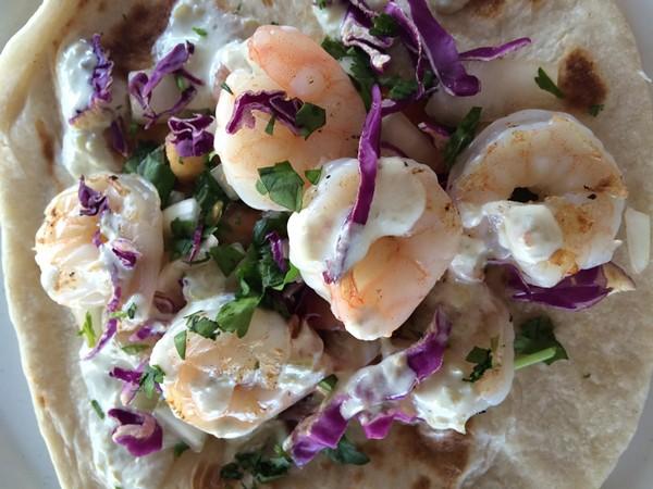 Chela's award-winning shrimp taco. - COURTESY
