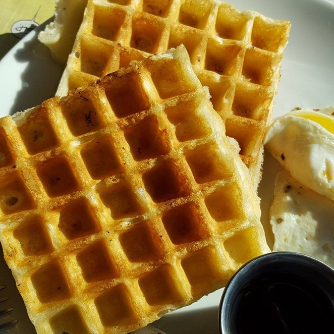 We have to remember what's important in life: waffles, friends, work. Or friends, waffles, work. - COURTESY