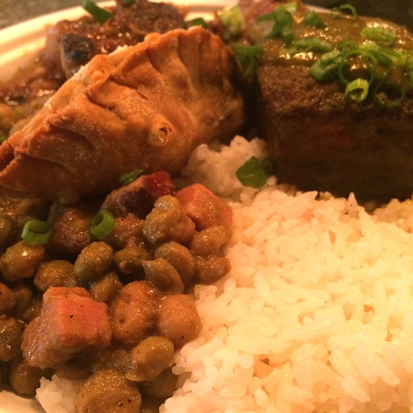 An Irie Plate during Saturday's Caribbean takeover at The Cookhouse. - JESSICA ELIZARRARAS