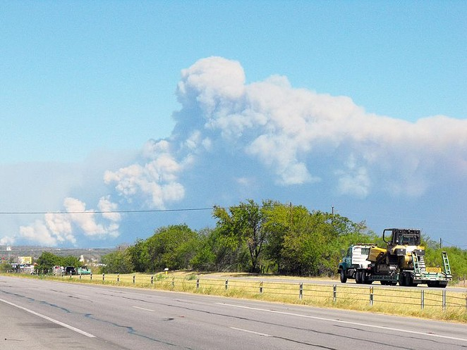 This photo is from the 2011 fire in Bastrop County. - WIKIPEDIA