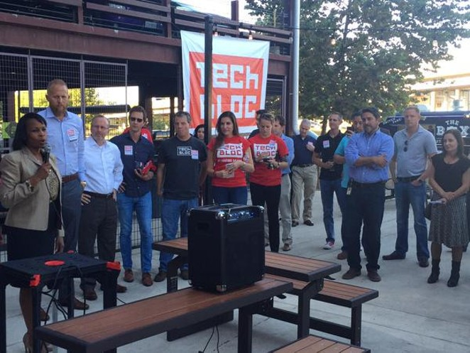 Mayor Ivy Taylor announced last week at a Tech Tuesday event that the city struck a deal with Uber. - TECH BLOC