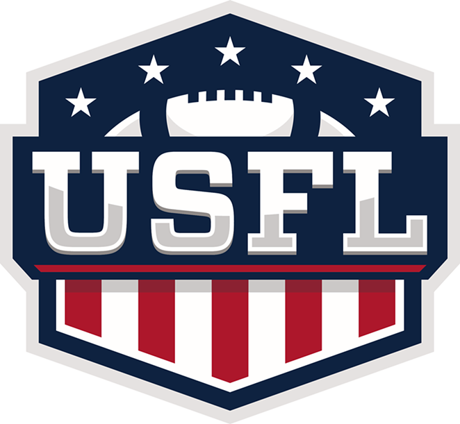 The logo for the new United States Football League - COURTESY