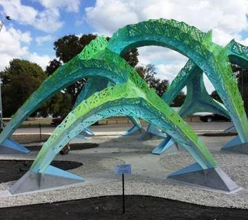 """Spineway,"" by French-born artist Marc Fornes - CITY OF SAN ANTONIO"