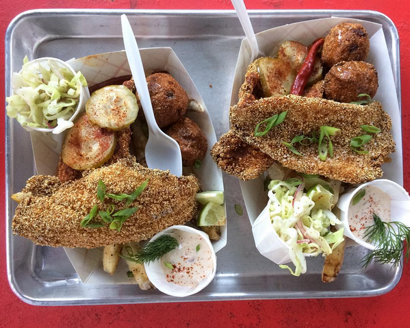 Classic catfish & Attaboy fries. - S.A.VORY/ INSTAGRAM