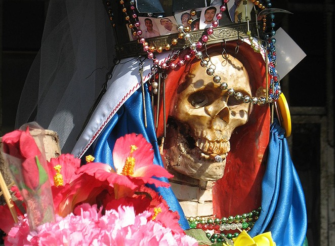 Santa Muerte items are hot sellers in San Antonio. - WIKIMEDIA COMMONS