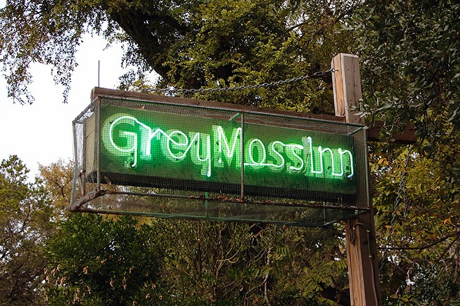 Signage at the Grey Moss in in Grey Forest - ALBERT SALAZAR