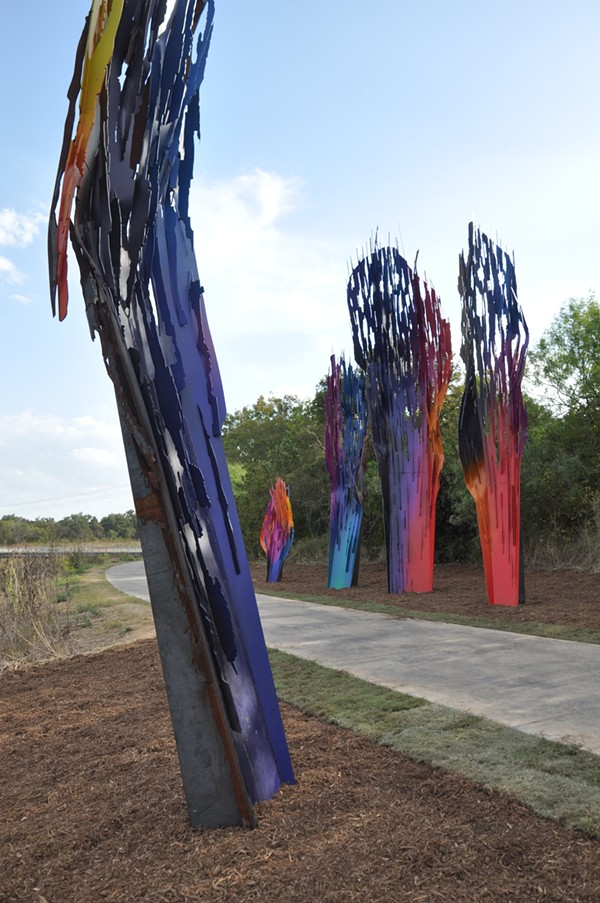 """""""Whispers"""" is Belgian Artist Arne Quinze's first permanent installation in the United States. - SAN ANTONIO RIVER FOUNDATION PROJECT MANAGER STUART JOHNSON"""