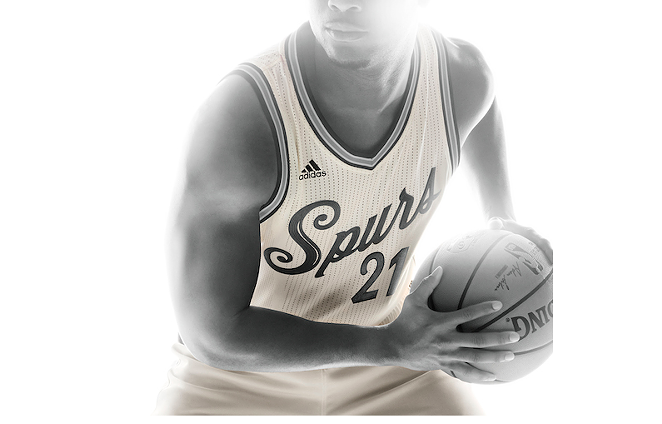 The Spurs will rock these slick uniforms on Christmas. - VIA NBA.COM
