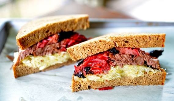 THe Granary's Chef Tim Rattray serves up a pastrami sandwhich every Friday. - THE GRANARY 'CUE & BREW/FACEBOOK