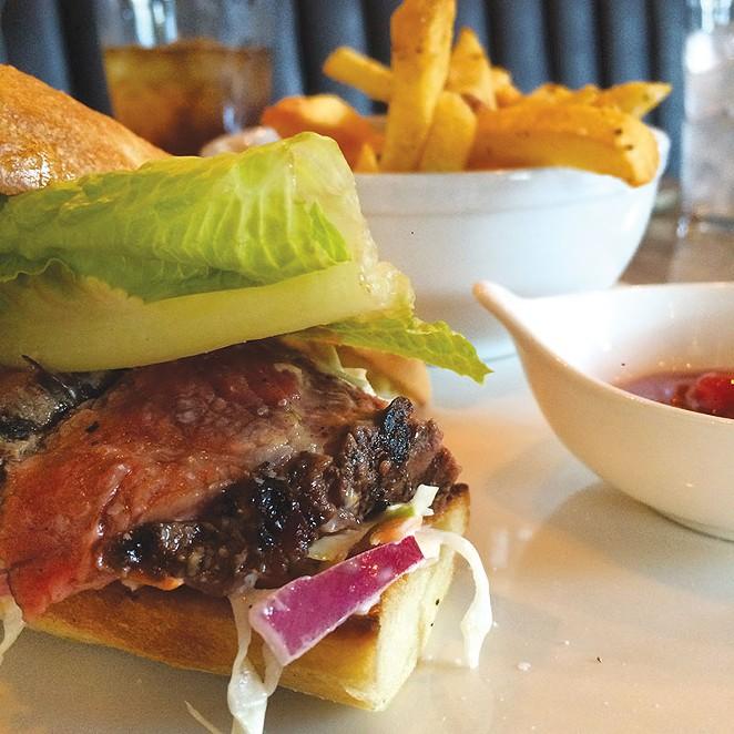 The steak sandwich at Brigid. - JESSICA ELIZARRARAS