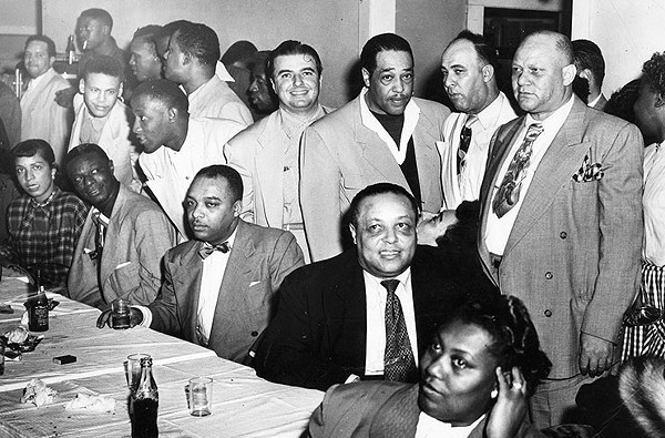 Nat King Cole and Duke Ellington - GENERAL PHOTOGRAPH COLLECTIONS 107-0095, UNIVERSITY OF TEXAS AT SAN ANTONIO LIBRARIES SPECIAL COLLECTIONS