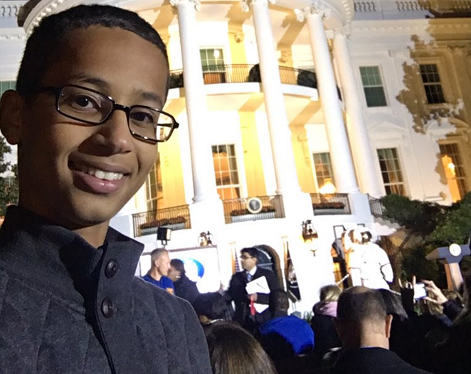 He was arrested for bring a clock to school, visited the White House and is now moving to Qatar. - ISTANDWITHAHMED/TWITTER