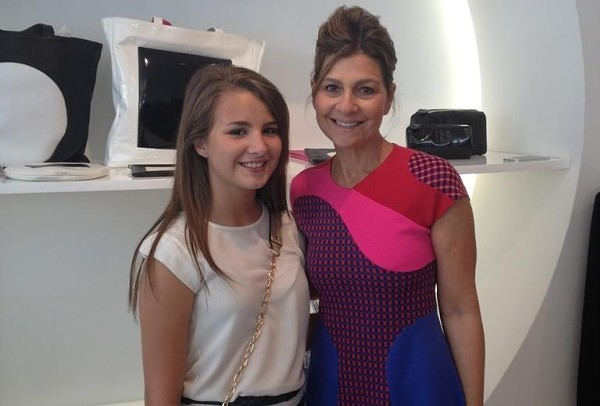 Lauren Nicole in New York City with designer Linda Perry. - COUTESY