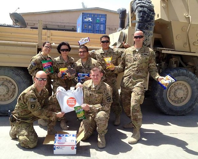 Online shipping means Texans in the military can get H-E-B products all over the world. - COURTESY H-E-B/FACEBOOK