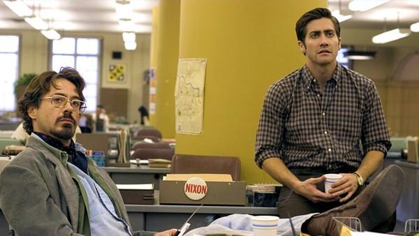 Robert Downey, Jr. and Jake Gyllenhaal in Zodiac. - COURTESY