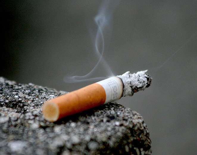 Smoking will soon be disallowed at Travis Park and Main Plaza. - VIA FLICKR CREATIVE COMMONS