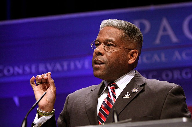 Firebrand former congressman Allen West recently unseated James Dickey as head of the Texas GOP. - WIKIMEDIA COMMONS / GAGE SKIDMORE