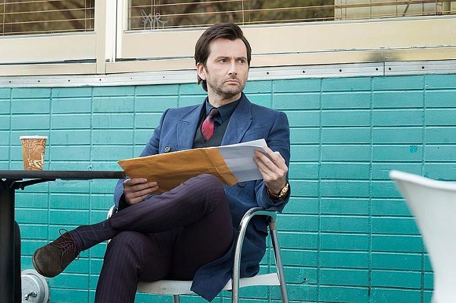 David Tennant as Jessica Jone's menacing archnemesis Kilgrave. - NETFLIX