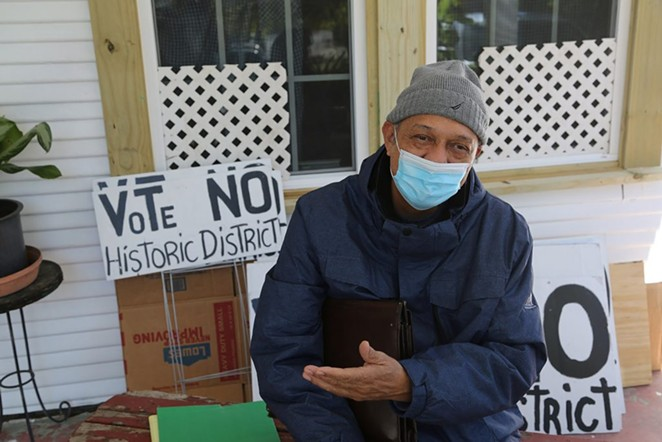 Rudolfo Ortiz has spearheaded the campaign against a historic district on the near West Side. - BEN OLIVO / SAN ANTONIO HERON
