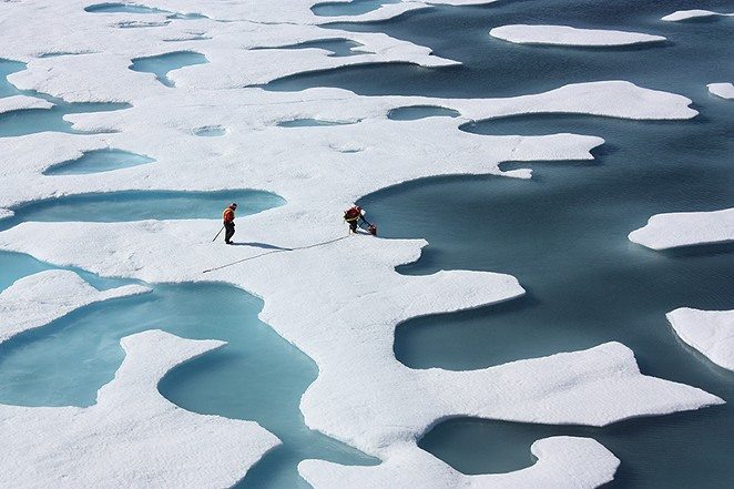 As arctic ice melts because of global warming, more methane is being released into the atmosphere. - GREG WEBB / IAEA