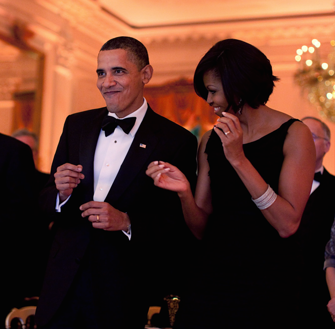 When the DJ drops your jam at the $100,000-a-plate dinner. - FLICKR