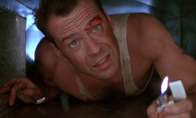 Bruce Willis' best work will be on screen at the Alamo Drafthouse Park North tonight for a quote-along. - COURTESY