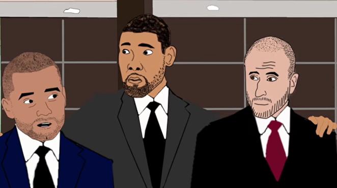 The Big 3 have to save Coach Pop to land LaMarcus Aldridge. - YOUTUBE SCREENSHOT