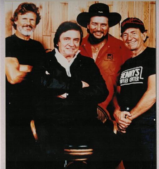 Kris Kristofferson, Johnny Cash, Waylon Jennings and Willie Nelson - WIKIMEDIA