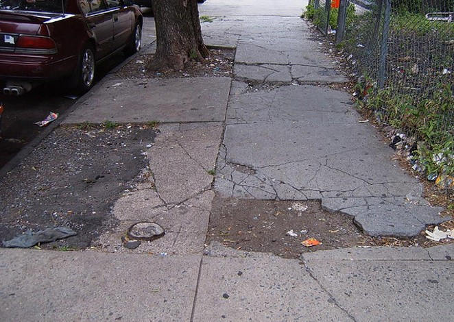Some of San Antonio's sidewalks are in rough shape. - FLICKR CREATIVE COMMONS
