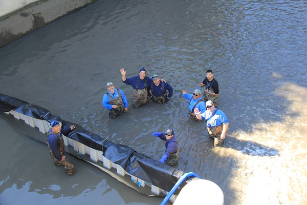 You can thank these folks for cleaning the Museum Reach portion of the San Antonio River. - SAN ANTONIO RIVER AUTHORITY   FACEBOOK