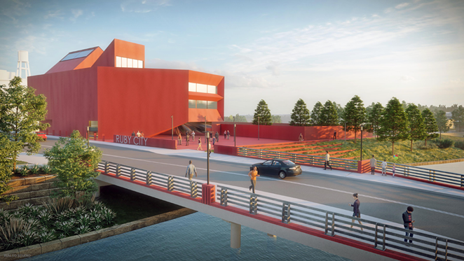 A rendering of Ruby City's planned campus expansion. - SAN ANTONIO RIVER AUTHORITY