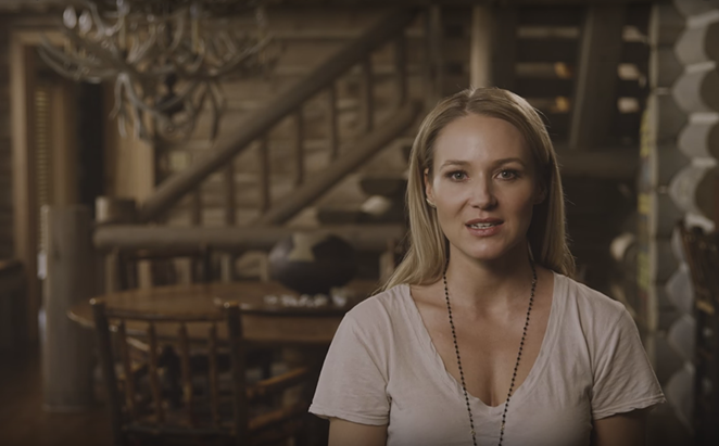 Jewel, who narrates the film, describes her experience being homeless and displaced - YOUTUBE