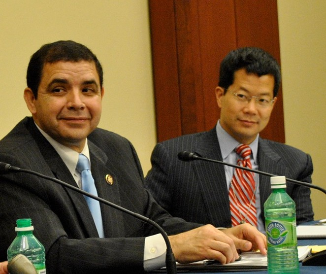 Rep. Henry Cuellar (left) announced more funding for immigration judges and support staff. - FLICKR CREATIVE COMMONS