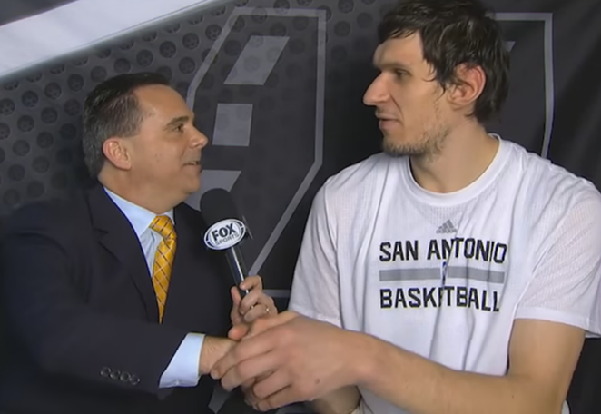 Boban's massive mitts engulfing the right hand of a reporter - YOUTUBE