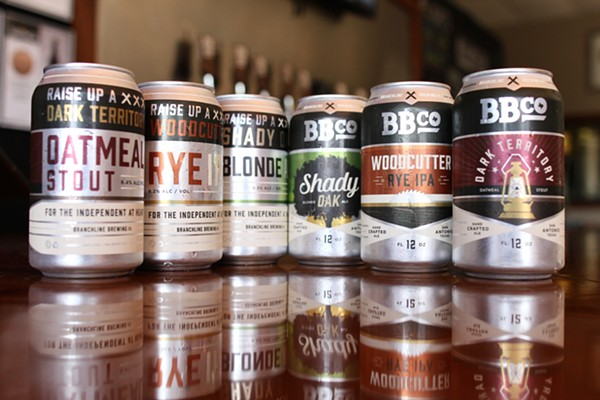 Branchline Brewing will offer three more of their beers in cans. - COURTESY