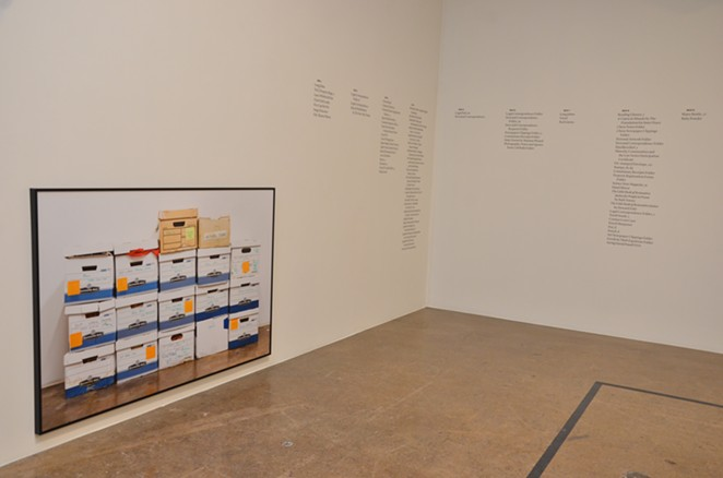 "Menjivar's installation is featured in Blue Star Contemporary's ""Please Form a Straight Line"" exhibit. - BRYAN RINDFUSS"