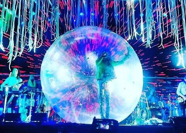 Wayne Coyne as the man in the bubble - VIA FACEBOOK