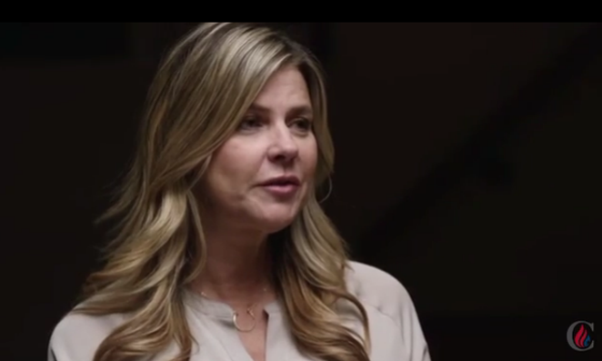 Amy Lindsay in the pulled Ted Cruz ad. - TED CRUZ FOR PRESIDENT/BUZZFEED