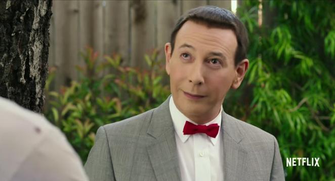 Paul Reubens as Pee-wee Herman in Pee-wee's Big Holiday. - NETFLIX/YOUTUBE SCREENSHOT