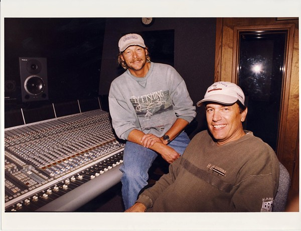"""Jackson with King George in the studio recording """"Murder on Music Row"""" - FACEBOOK"""