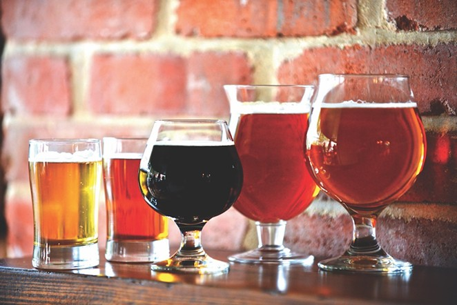 Indulge in a lunchtime beer at the Granary Brew & 'Cue.