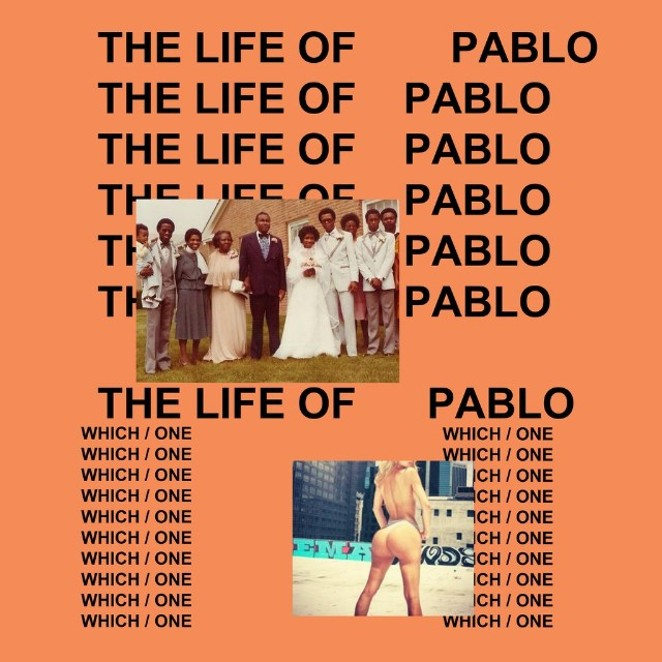 The cover for West's The Life of Pablo - COURTESY