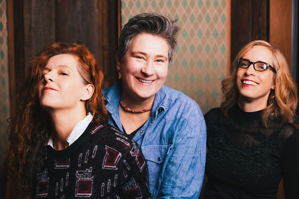 Case, lang and Veirs having a time. - COURTESY