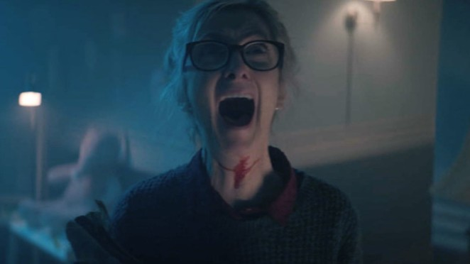 """Audrey Walsh (Sheila McCarthy) lets loose with a scream as if she's seen a ghost in """"Anything for Jackson."""" Spoiler alert: She has, and it's pissed. - SHUDDER"""