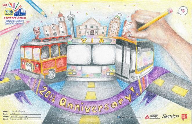 This drawing won Best of Show in 2015. - VIA METROPOLITAN TRANSIT   FLICKR