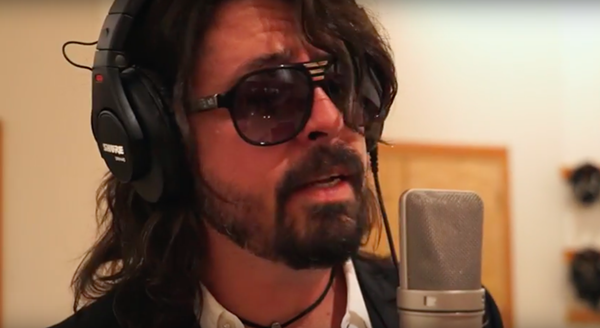 A still of Grohl the goof from the Foo spoof. - YOUTUBE